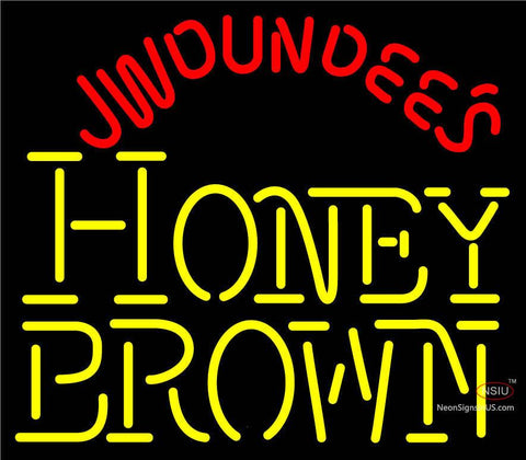 Jw Dundees Honey Brown Neon Sign