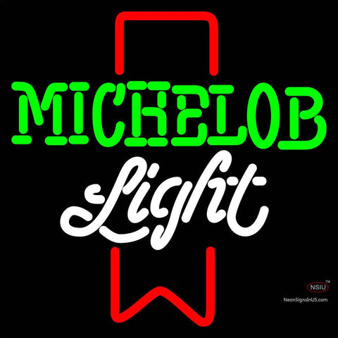 Michelob Light Red Ribbon Neon Beer Sign x