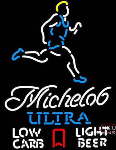 Michelob Ultra Light Low Carb Jogger Neon Beer Sign