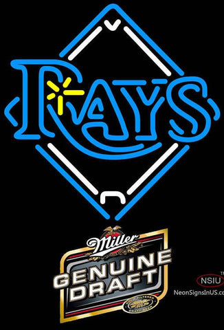 Miller Genuine Draft Tampa Bay Rays MLB Neon Sign