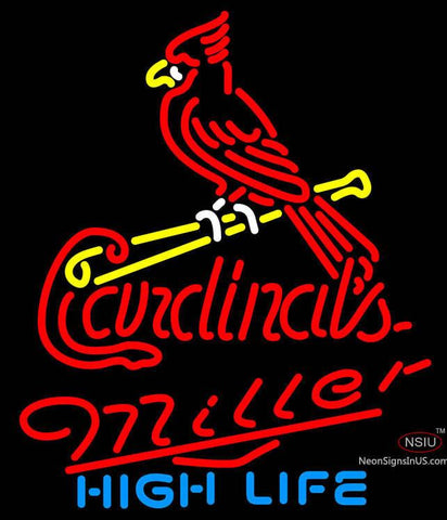 Miller High Life St Louis Cardinals MLB Neon Sign