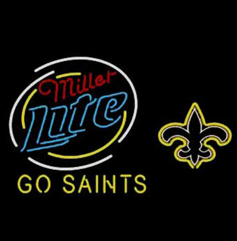 Miller Lite New Orleans Saints Go Saints Neon Sign