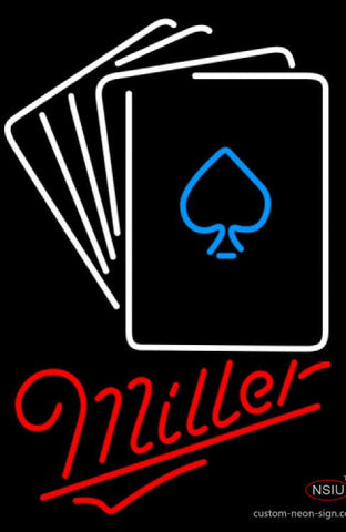 Miller Neon Poker Cards Neon Sign 7