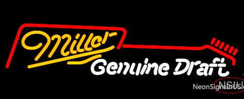 Miller Guitar Neon Beer Sign