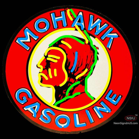 Mohawk Gasoline Neon Sign