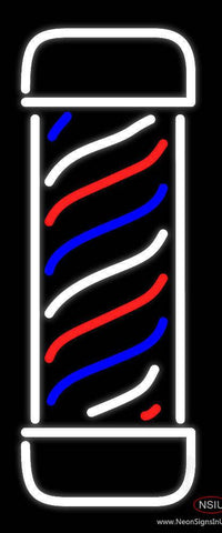 Vertical Barber Pole Real Neon Glass Tube Neon Sign