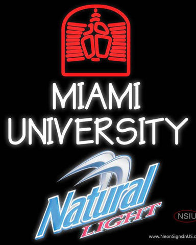 Natural Light Miami UNIVERSITY Real Neon Glass Tube Neon Sign