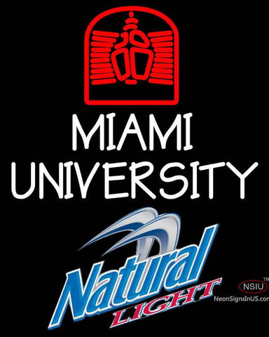 Natural Light Miami UNIVERSITY Neon Sign