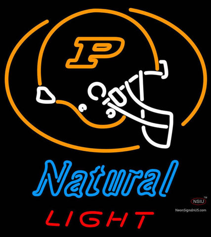 Natural Light Purdue University Boilermakers Helmet Neon Sign