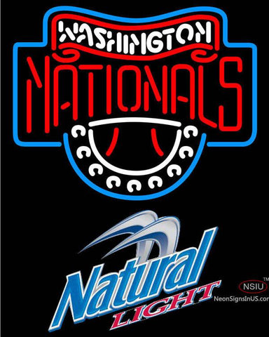Natural Light Washington Nationals MLB Neon Sign
