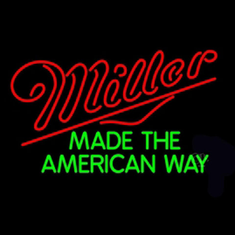 Miller American Way Neon Beer Light