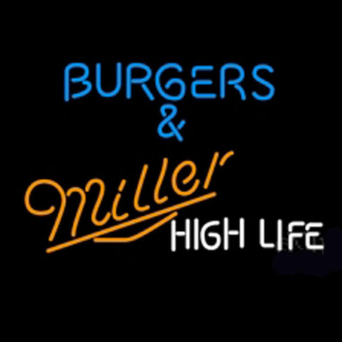 Miller Burgers And Miller Neon Beer Light