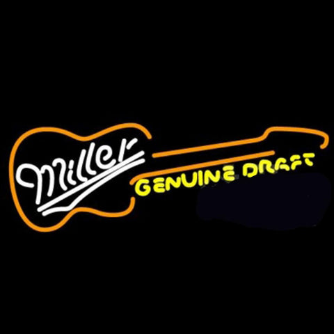 Miller Country Guitar Neon Beer Light
