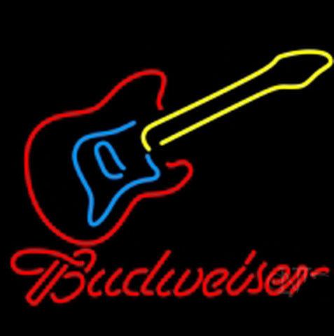 Nbl Budweiser Guitar Neon Beer Light