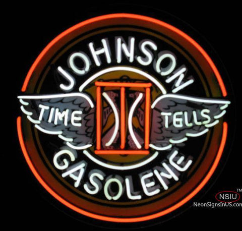 Johnson Gasoline Neon Sign
