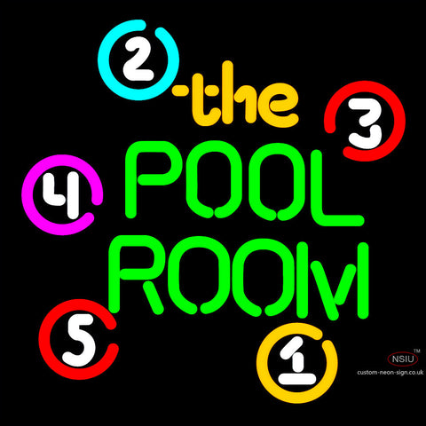 The Pool Room Neon Sign