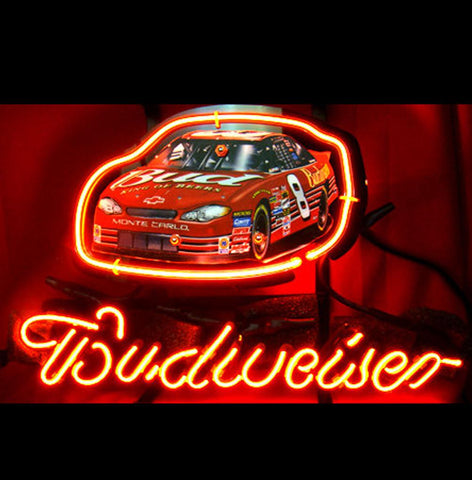 New Budweiser Nascar 8 Car Racing Neon Light Sign