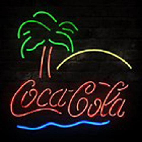New Coca Cola Beach Coke Palm Beer Bar Neon Sign