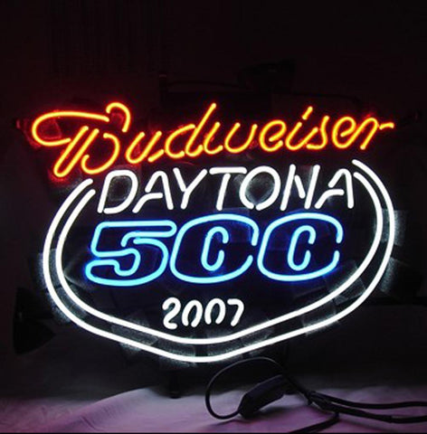 New Daytona 500 2007 Budweiser Neon Light Sign