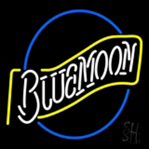beer blue moon neon sign