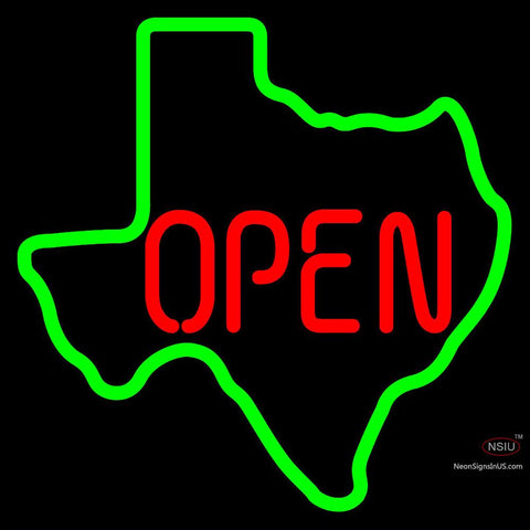 OPEN Texas State Neon Sign