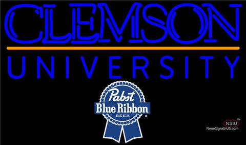 Pabst Blue Ribbon Clemson UNIVERSITY Neon Sign