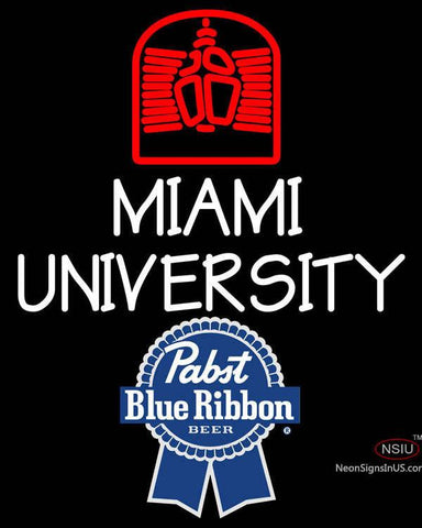 Pabst Blue Ribbon Miami UNIVERSITY Neon Sign