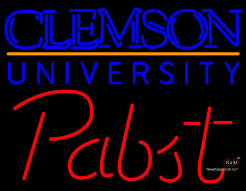 Pabst Clemson UNIVERSITY Neon Sign