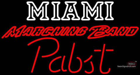 Pabst Miami UNIVERSITY Band Board Neon Sign