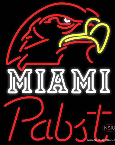 Pabst Miami UNIVERSITY Fall Session Real Neon Glass Tube Neon Sign