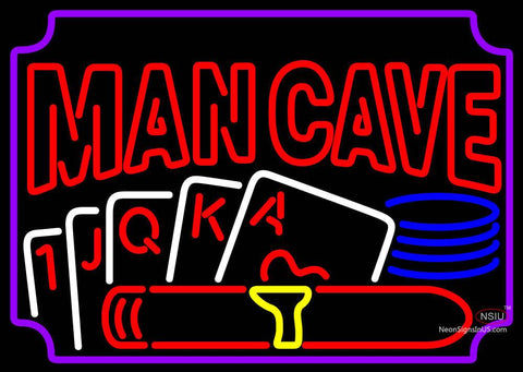 Poker Cigar Man Cave Neon Beer Sign