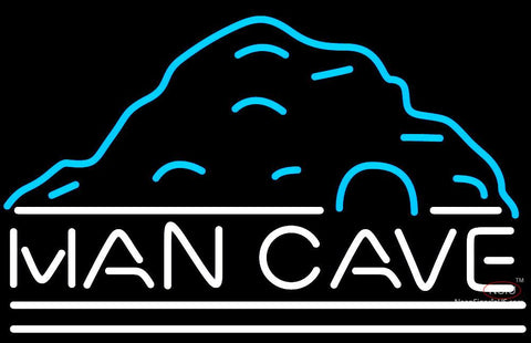 Rec Room Mountain White Man Cave Neon Sign