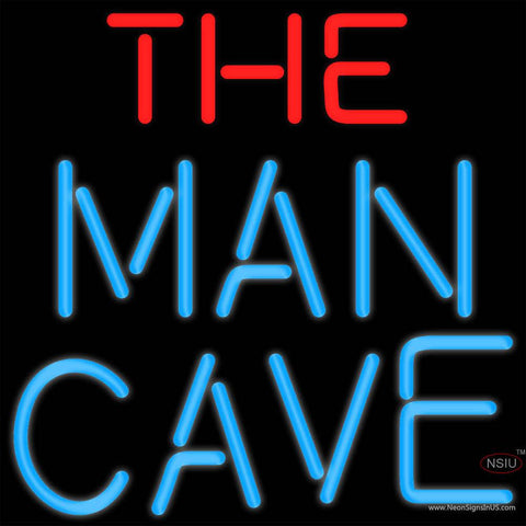 Red And Blue The Man Cave Real Neon Glass Tube Neon Sign x
