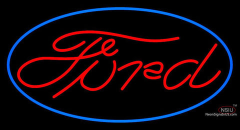 Red Ford Blue Oval Neon Sign