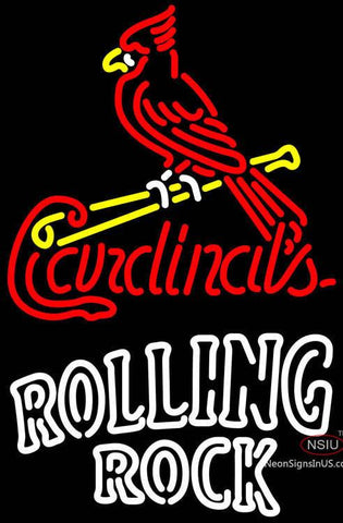 Rolling Rock Double Line St Louis Cardinals MLB Neon Sign