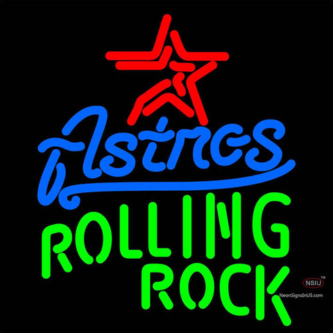 Rolling Rock Houston Astros MLB Neon Beer Sign x