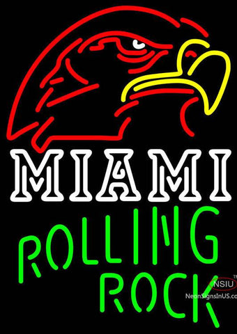 Rolling Rock Single Line Miami UNIVERSITY Fall Session Neon Sign