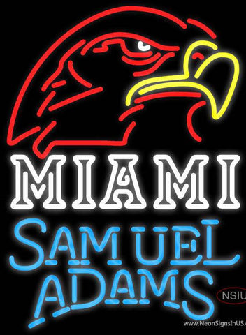Samuel Adams Single Line Miami UNIVERSITY Fall Session Real Neon Glass Tube Neon Sign