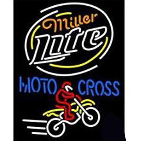Miller Light Motorcross Beer Neon Sign