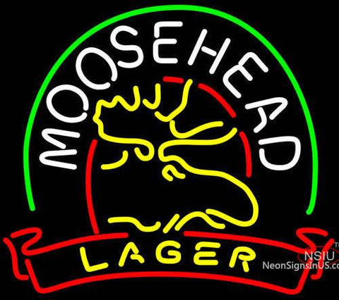 Moosehead Lager Deer Neon Beer Sign