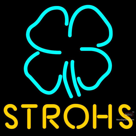 Strohs Clover Neon Beer Sign x