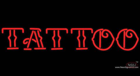Red Tattoo Real Neon Glass Tube Neon Sign