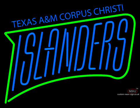 Texas A And M Cc Islanders Wordmark  Pres Logo NCAA Neon Sign