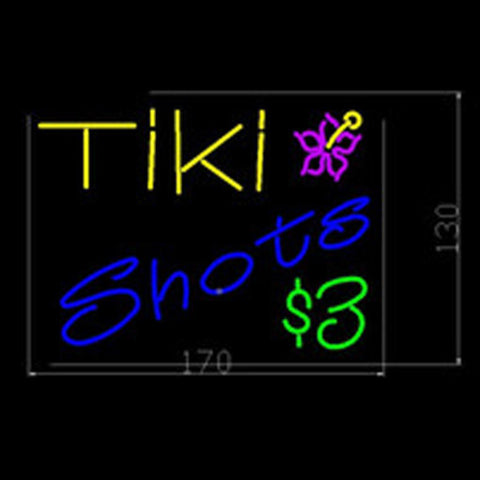 Tiki Beer Bar Neon Light Sign