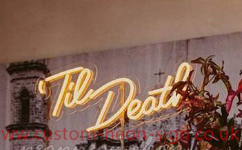 Till Death Yellow Wedding Home Deco Neon Sign