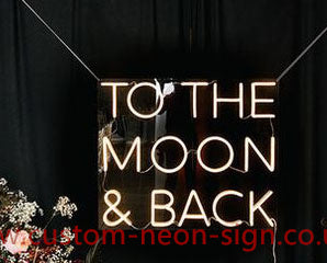 To The Moon And Back Wedding Home Deco Neon Sign