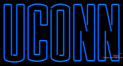 Uconn Huskies Wordmark   Logo NCAA Neon Sign