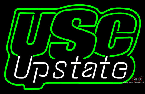 Usc Upstate Spartans Wordmark  Pres Logo Ncaa Neon Sign