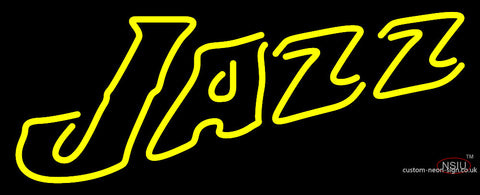 Utah Jazz Secondary   Pres Logo NBA  Neon Sign