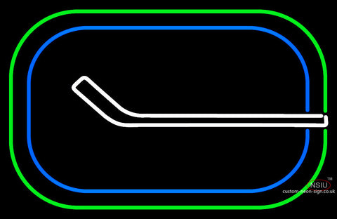 Vancouver Canucks Primary 7 7 77 7 Logo  NHL Neon Sign